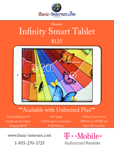 Infinity Smart Table Flyer option 5